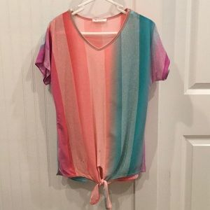 Colorful spring top
